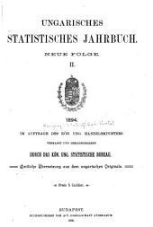 Ungarisches statistisches Jahrbuch: Neue Folge