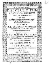 De analogia disputatio philosophica thesibus centum explicata
