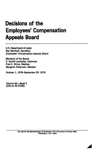 Decisions of the Employees' Compensation Appeals Board