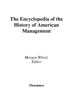 Encyclopedia of History of American Management PDF