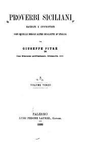 Proverbi siciliani raccolti e confrontati con quelli degli altri dialetti d'Italia da Giuseppe Pitrè: Volume primo-[quarto].