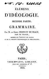 Eléméns d'idéologie: Volume2