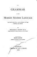 A grammar of the modern Spanish language PDF