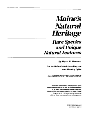 Maine s Natural Heritage