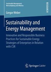 Sustainability and Energy Management: Innovative and Responsible Business Practices for Sustainable Energy Strategies of Enterprises in Relation with CSR