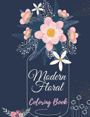 Modern Floral Coloring Book