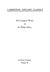 The Complete Works of Sir Philip Sidney