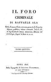 Il foro criminale: Volume 5