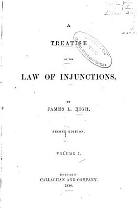 A Treatise on the Law of Injunctions PDF