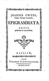 Joannis Oweni, Cambro-Britanni Oxoniensis, Epigrammata