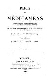 Précis des médicamens antipsoriques homéopathiques: de leur sphère d'action principale et de leurs propriétés caractéristiques