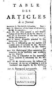 Journal britannique: Volume19