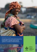 Increasing productivity and improving livelihoods in aquatic agricultural systems  A review of interventions PDF
