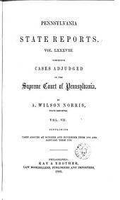 Pennsylvania State Reports: Volume 88