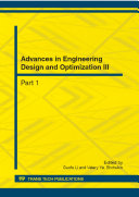 Advances in Engineering Design and Optimization III