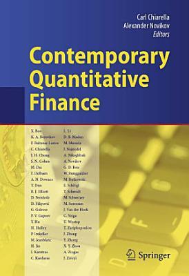 Contemporary Quantitative Finance PDF
