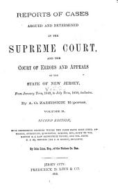 Reports of Cases Argued and Determined in the Supreme Court And, at Law, in the Court of Errors and Appeals of the State of New Jersey: Volume 22
