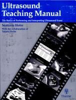 Ultrasound Teaching Manual PDF
