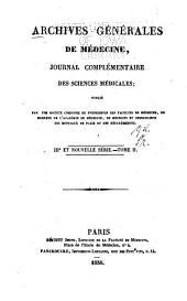 Archives générales de médecine: Volumes2à3