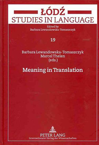 Meaning in Translation PDF