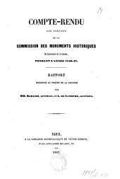 Compte-rendu des travaux de la commission des monuments historiques du département de la Gironde pendant l'année 1846-1847: rapport presenté au préfet de la Gironde par MM. Rabanis et L. de Lamothe