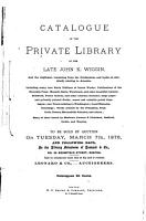 Catalogue of the Private Library of the Late John K  Wiggin PDF