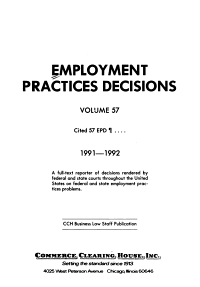 Employment Practices Decisions