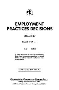 Employment Practices Decisions