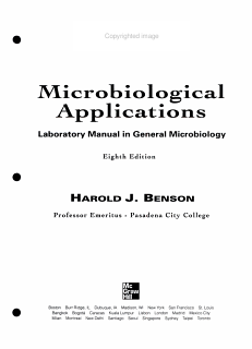 Microbiological Applications Book