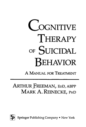 Cognitive Therapy of Suicidal Behavior PDF