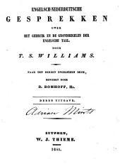 Engelsch-Nederduitsche gesprekken over het gebruik en de grondregelen der Engelsche taal: Volume 1
