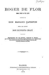 Roger de Flor: drama lírico en tres actos