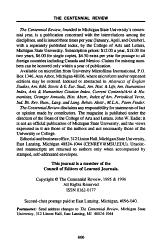 CR  The Centennial Review PDF