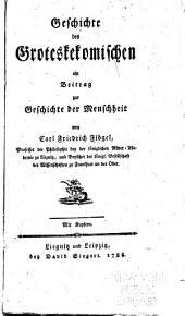 Geschichte Des Groteskekomischen: Ein Beitrag Zur Geschishte Der Menschheit
