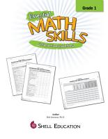 Essential Math Skills  Interactive Inventory for Grade 1 PDF