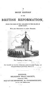 A brief history of the British Reformation: from the rise of the Lollards to the death of Queen Mary: with some observations on modern Romanism ...