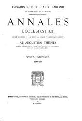 Annales ecclesiastici denuo excusi et ad nostra usque tempora perducti ab Augustino Theiner...