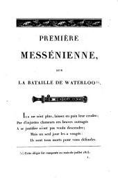 Trois Messéniennes: Élégies sur les malheurs de la France