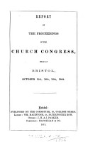 Report of the Proceedings of the Church Congress Held in     PDF