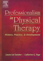 Professionalism in Physical Therapy PDF