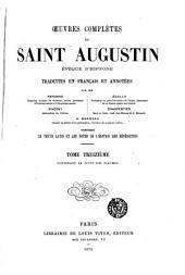 Œuvres complètes de Saint Augustin: Volume13