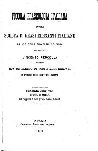 Download PICCOLA FRASEOLOGIA ITALIANA Book