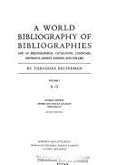 A World Bibliography of Bibliographies PDF