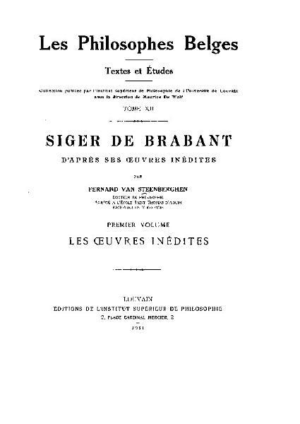 Textes Et Tudes Philosophiques