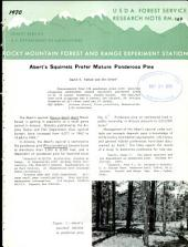 Abert's squirrels prefer mature ponderosa pine
