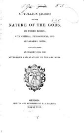 Of the nature of the gods: in three books