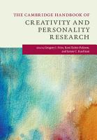 The Cambridge Handbook of Creativity and Personality Research PDF