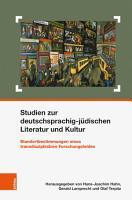 Studien zur deutschsprachig j  dischen Literatur und Kultur PDF