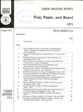 Current Industrial Reports: Pulp, paper, and board