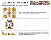 October Classroom Decorations by Karen's Kids